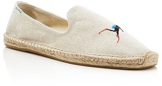 Soludos Embroidered Smoking Slipper Espadrilles $75 thestylecure.com