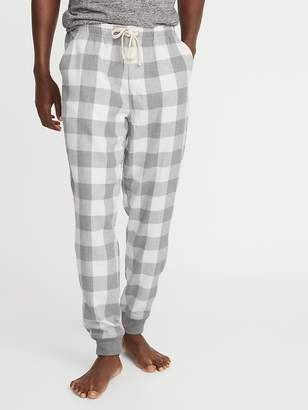 Old Navy Patterned Flannel Joggers for Men