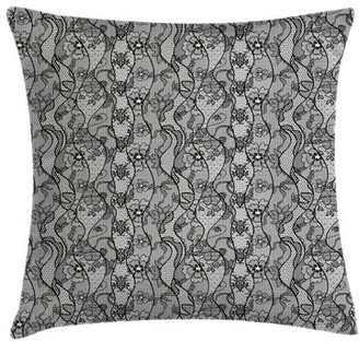 Ambesonne Antique Lace Gothic Pattern Pillow Cover Ambesonne