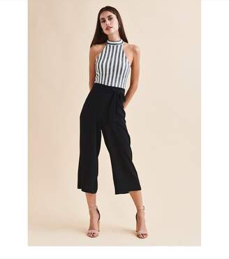 Dynamite Karlie High Rise Belted Pant - FINAL SALE JET BLACK