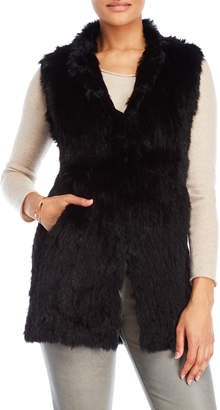 Love Token Alexa Longline Real Fur Vest
