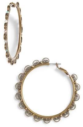 Sorrelli Foxglove Crystal Hoop Earrings