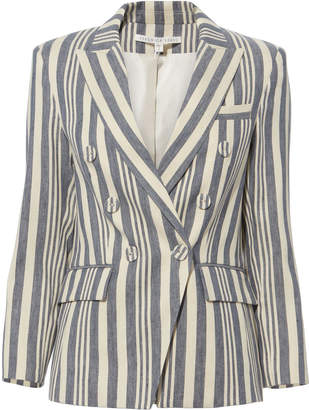 Veronica Beard Geneva Striped Dickey Jacket