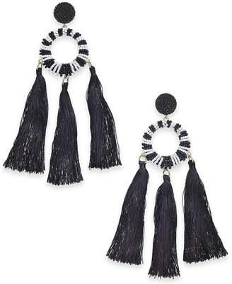INC International Concepts Trina Turk x I.N.C. Beaded Multi-Tassel Drop Earrings, Created for Macy's