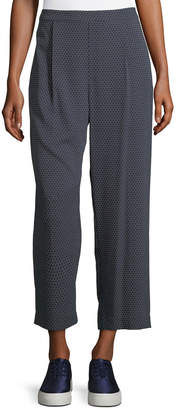 Vince Printed Silk-Blend Lounge Pants, Coastal/Shark