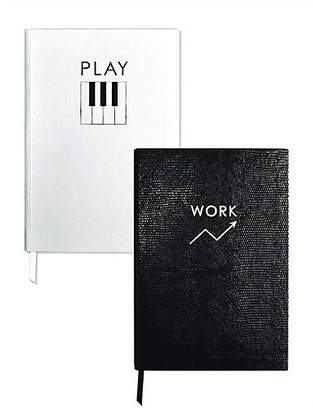 Sloane Stationery Asst. of 2 Work/Play Journals - Black/White