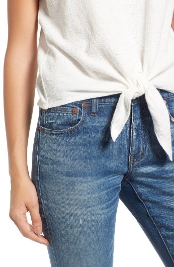 Women's Madewell Modern Tie Front Tee 2