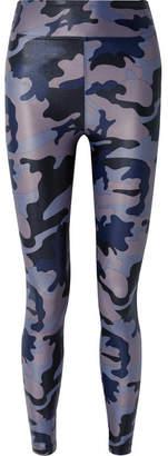Koral Camouflage-print Stretch Leggings - Navy