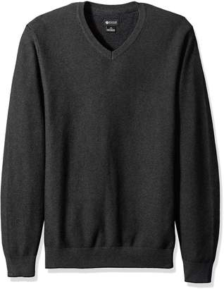 Haggar Men's 2-Tone Pearl Knit V-Neck Sweater