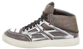 Alejandro Ingelmo Tron Glitter High-Top Sneakers