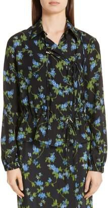 Altuzarra Floral Print Silk Jacket