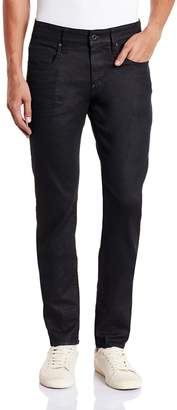 G Star Men's Revend Super Slim Fit Pant In Black Print Stretch Denim