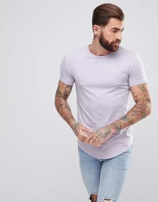 SikSilk Muscle T-Shirt In Pastel Purple
