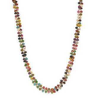 Mudd Gold Tone Seed Bead Long Necklace