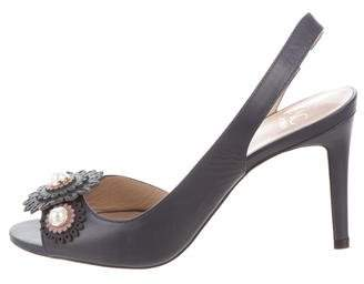 Zac Posen Slingback Embellished Sandals