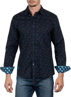 English Laundry Big Tall Rose-Print Long Sleeve Button-Down Shirt