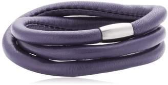 story. Unisex Bracelet nappa leather purple 57 cm
