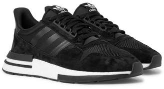 adidas ZX 500 RM Suede, Mesh and Leather Sneakers - Men - Black
