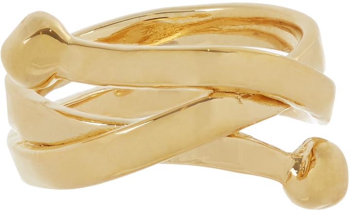 Aurelie BidermannAURÉLIE BIDERMANN Ariane gold-plated ring