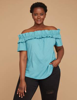 Lane Bryant Off-the-Shoulder Ruffle Top