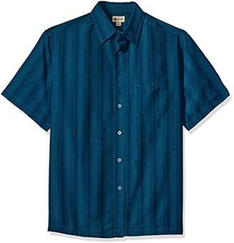 Haggar Men's Short Sleeve Sueded Effect Microfiber Woven Shirt