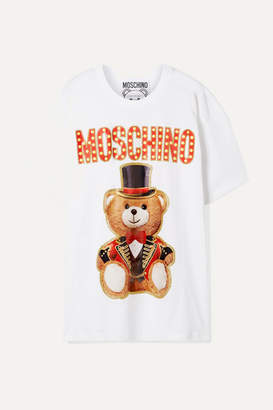 5f47e08b31e Moschino Oversized Printed Cotton-jersey T-shirt - White