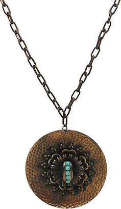 One Kings Lane Vintage Copper & Faux-Turquoise Pendant Necklace