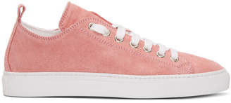 DSQUARED2 Pink Suede Sneakers