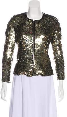 Isabel Marant Sequin Leather-Trimmed Jacket
