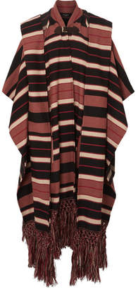 Etro Striped Wool-blend Cape - Brown