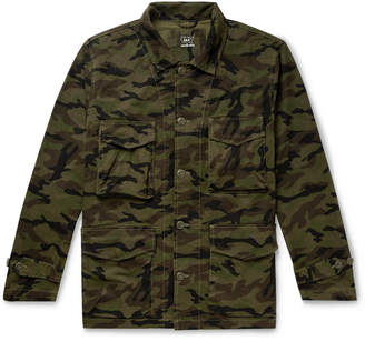 SAVE KHAKI UNITED Woodland Camouflage-Print Cotton Field Jacket
