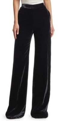Alice + Olivia Brandon Maxwell Wide-Leg Velvet Pants