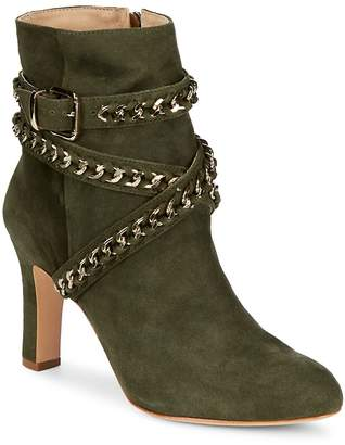 Schutz Women's Izzy Ankle Wrap Suede Boots