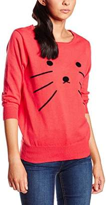 PepaLoves Women's Sweater Emb.Cat Jersey,S