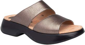 Dansko Open Toe Leather Slides - Lana
