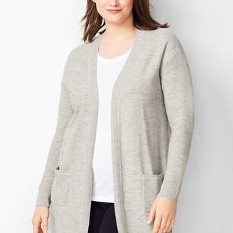 Talbots Space-Dyed Open-Front Cardigan