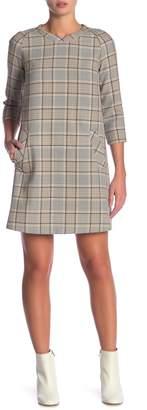 Paul & Joe Sister 3/4 Sleeve Plaid Print Dress