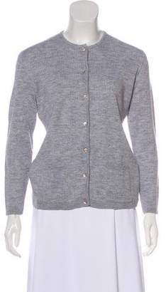 Courreges Long Sleeve Button-Up Cardigan