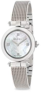 Gucci Diamantissima Mother-Of-Pearl& Stainless Steel Bracelet Watch