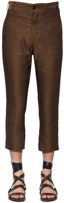 Ann Demeulemeester Striped Linen & Viscose Pants