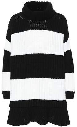 Valentino Striped virgin wool dress