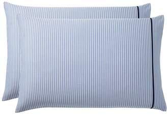 Pottery Barn Teen Oxford Stripe Sheet Set, Extra Pillowcases, Set of 2, Blue
