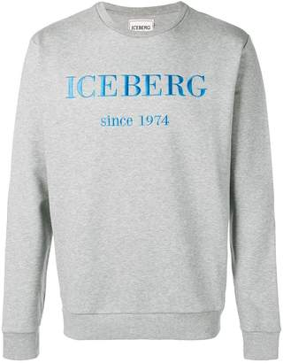 Iceberg logo embroidered sweatshirt