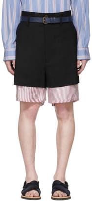 Marni Black Bottom Stripe Shorts