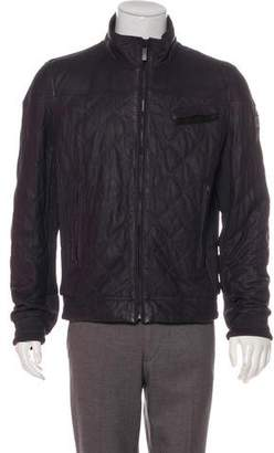 BOSS ORANGE Collection Quilted Leather Jacket