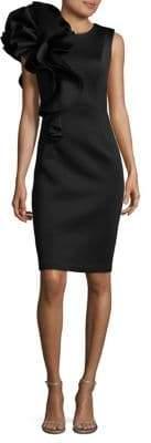 Betsy & Adam Ruffled Knee-Length Dress