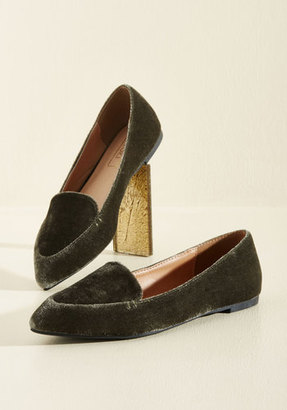 Yoki Fashion International Best of Velvet Loafer in Thyme $34.99 thestylecure.com