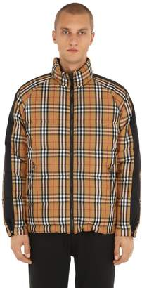 Burberry Reversible Rainbow Check Puffer Jacket