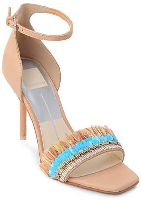 Dolce Vita Women's Hyper Suede & Embellished Raffia High-Heel Sandals