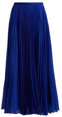 Joseph Abbot Pleated Crepe Skirt - Womens - Blue